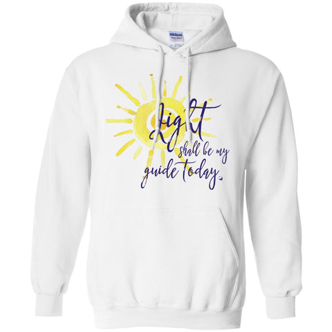 Light Shall Be My Guide Today Pullover Hoodie - Sun Motif - Hoodies - White - Small -