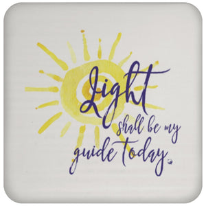 Light Shall Be My Guide Today - Sun - Drink Coaster - Drinkware - Sun Motif - -