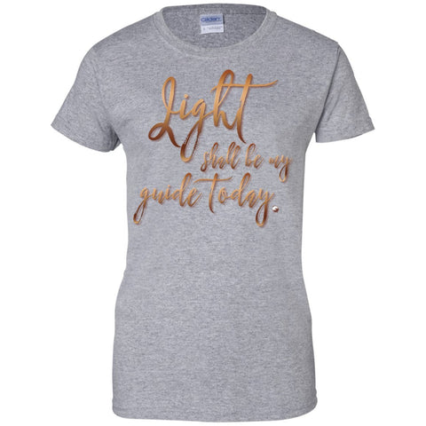 """Light Shall Be My Guide Today"" Womens 100% Cotton T-Shirt - T-Shirts - Cardinal Red - Small -"