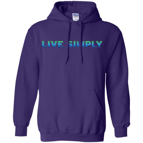 Live Simply - Colorful Unisex Sweatshirts & Hoodies-Apparel-Hoodie-Purple-S-The Miracles Store