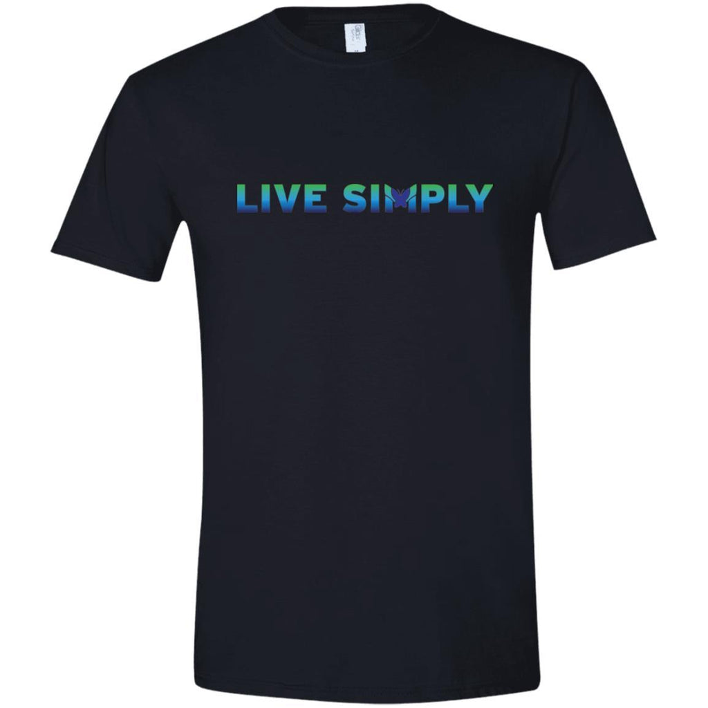 Live Simply - Men's Shirts (Colorful)-Apparel-Softstyle Tee-Black-S-The Miracles Store