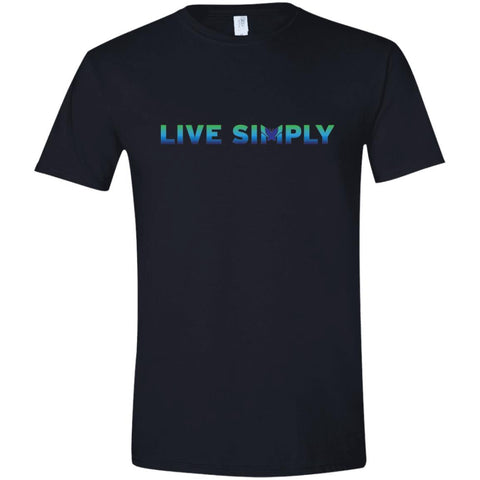 """Live Simply"" Men's Shirts (Colorful)"