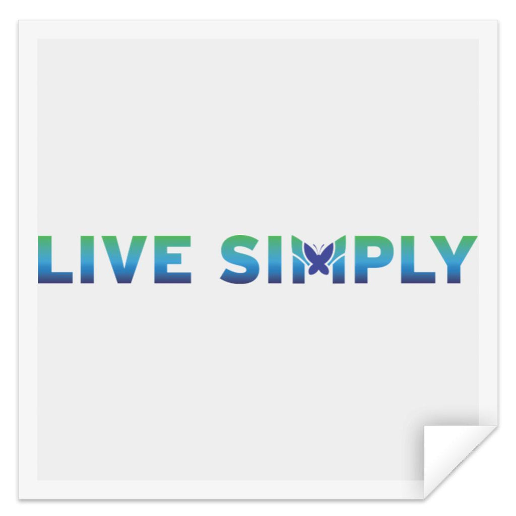"Live Simply - Sticker-Apparel-Small (3"" x 3"")-The Miracles Store"