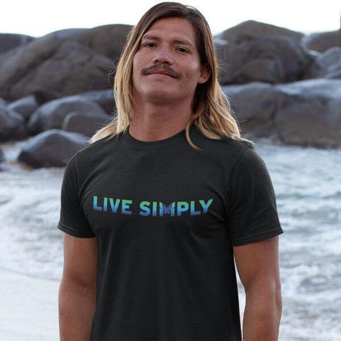 """Live Simply"" Unisex T-Shirt-T-Shirts-The Miracles Store"