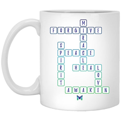 """Miracle"" Crossword - Coffee Cup-Apparel-The Miracles Store"