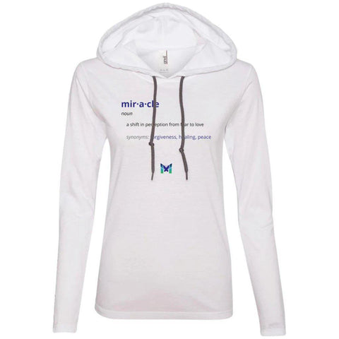 """Miracle Defintion"" - Women's Lightweight Hoodie TShirt-Apparel-White-S-The Miracles Store"