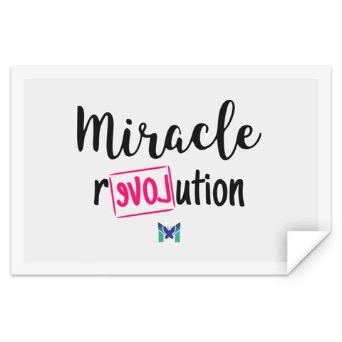 """Miracle Revolution"" - Sticker-Apparel-The Miracles Store"