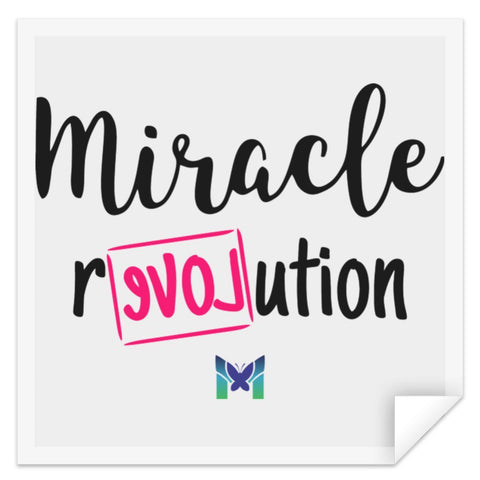 """Miracle Revolution"" - Sticker-Apparel-Square-Small (3"" x 3"")-The Miracles Store"