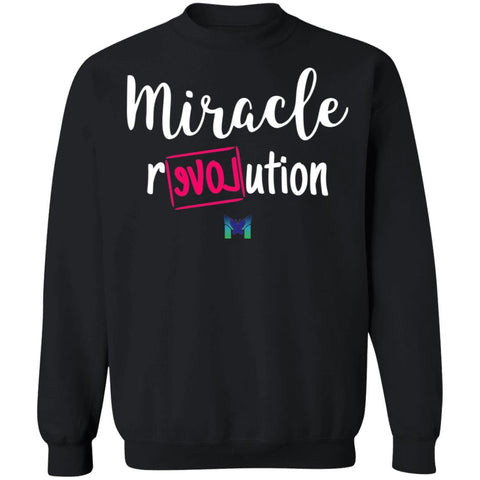 """Miracle Revolution"" Unisex Crewneck Sweatshirt-Sweatshirts-The Miracles Store"