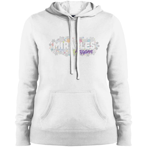 Miracles Happen Holiday Snowflake Tops - Apparel - Sweatshirt - White - X-Small