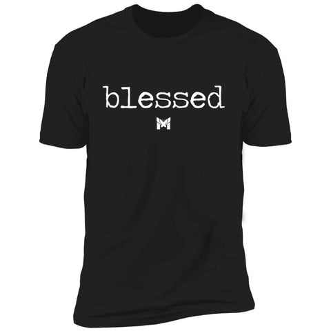 Man Playing Guitar While Wearing Classic Blessed T-Shirt
