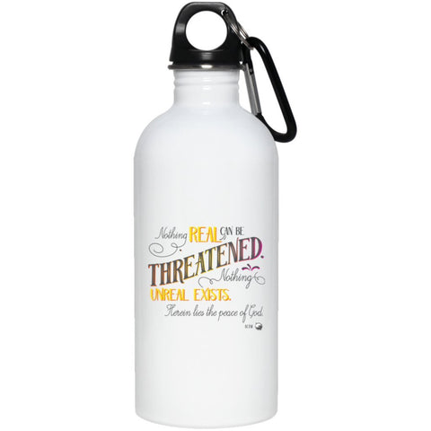 Nothing Real Can Be Threatened - 20 oz. Stainless Steel Water Bottle - Drinkware - Yellow - -