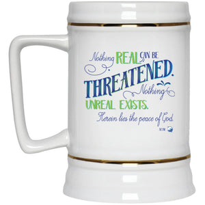 Nothing Real Can Be Threatened - 22oz Beer Mug - Drinkware - Green - -