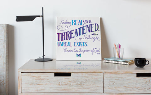 "Nothing Real Can Be Threatened - Canvas Wall Art-Housewares-16"" x 16"" (Medium)-The Miracles Store"