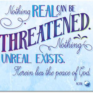 Nothing Real Can Be Threatened Canvas Wall Art - Purple - Canvas Wall Art - 8x10 - -