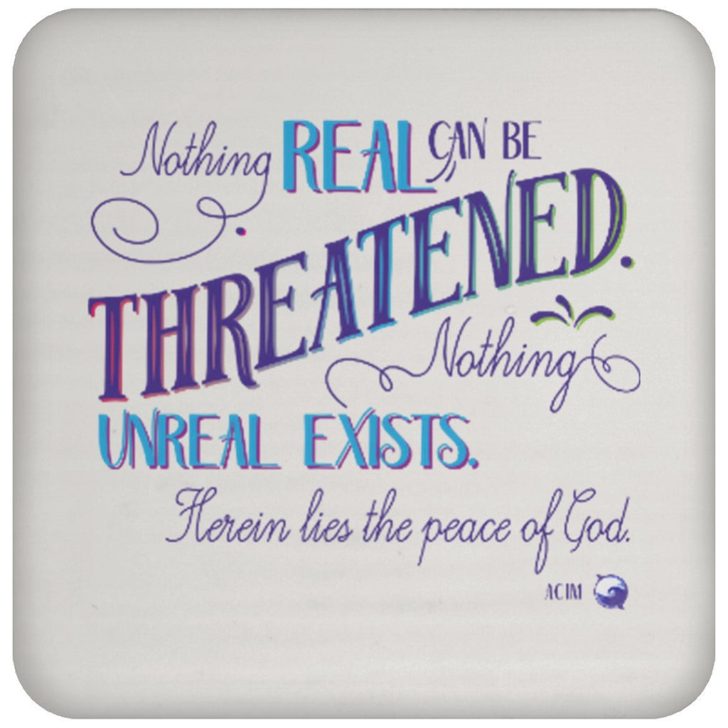 Nothing Real Can Be Threatened - Drink Coaster - Drinkware - Blue - -