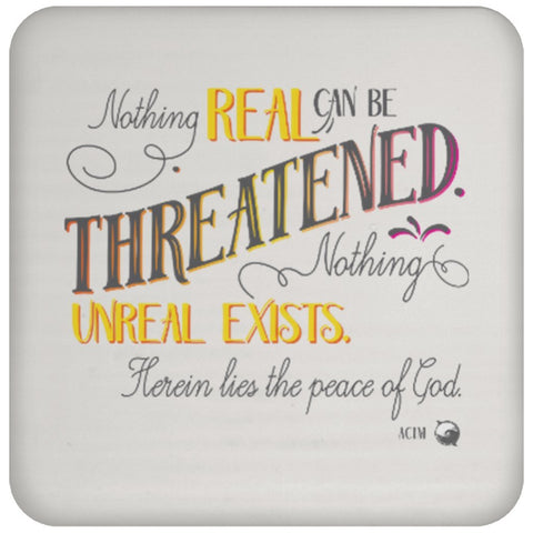 Nothing Real Can Be Threatened - Drink Coaster - Drinkware - Yellow - -