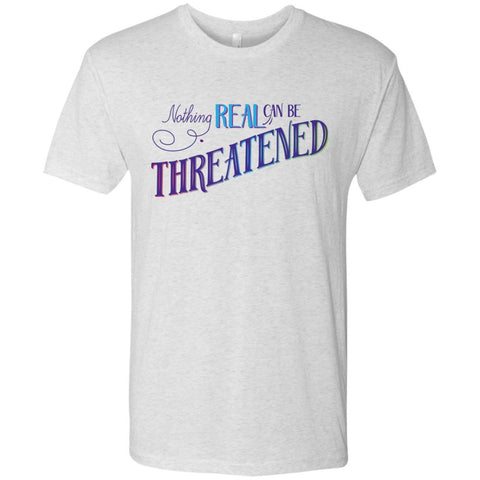 Nothing Real Can Be Threatened - Men's Two-Sided Shirts - ACIM-Apparel-Soft Triblend T-Shirt-Heather White-Small-The Miracles Store