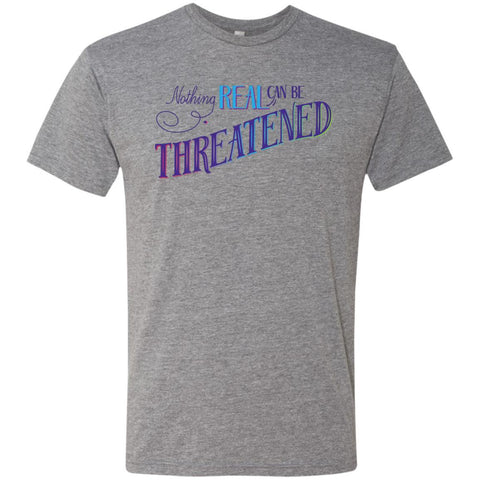 Nothing Real Can Be Threatened - Men's Two-Sided Shirts - ACIM-Apparel-Soft Triblend T-Shirt-Premium Heather-Small-The Miracles Store