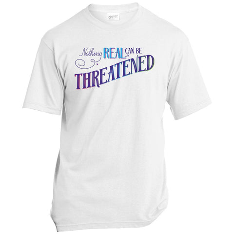 Nothing Real Can Be Threatened - Men's Two-Sided Shirts - ACIM-Apparel-Unisex T-Shirt-White-Small-The Miracles Store