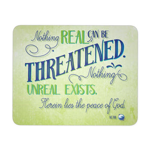 Nothing Real Can Be Threatened Mouse Pad - Mousepads - Nothing Real Blue - -