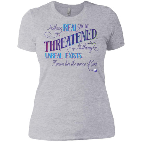Nothing Real Can Be Threatened - Women's Shirts, Tees, and Tanks - ACIM-Apparel-Boyfriend T-Shirt-Heather Grey-Small-The Miracles Store