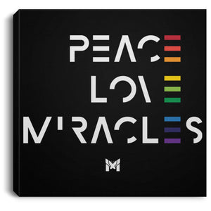 "Peace Love Miracles - Canvas Wall Art Print-Housewares-8"" x 8""-The Miracles Store"