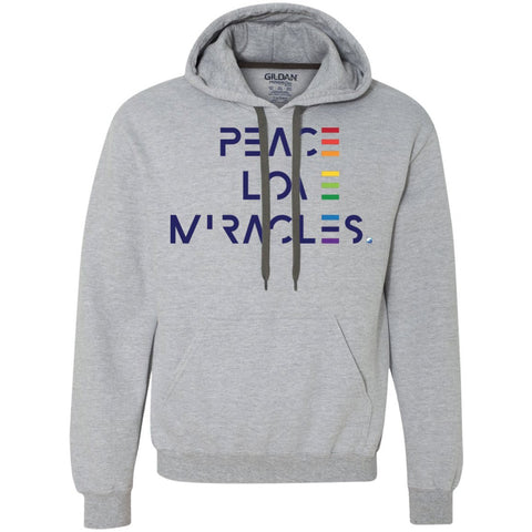 Peace, Love Miracles Sweatshirt Hoodies - Unisex - Apparel - Sport Grey - Small -