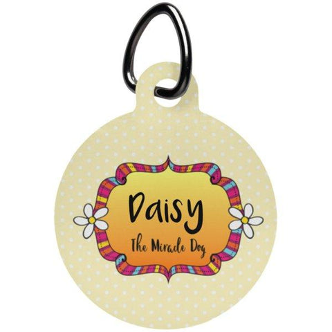 Personalized, Monogrammed Pet Tag - Dog or Cat-Pet Accessories-Orange-Monogram-The Miracles Store