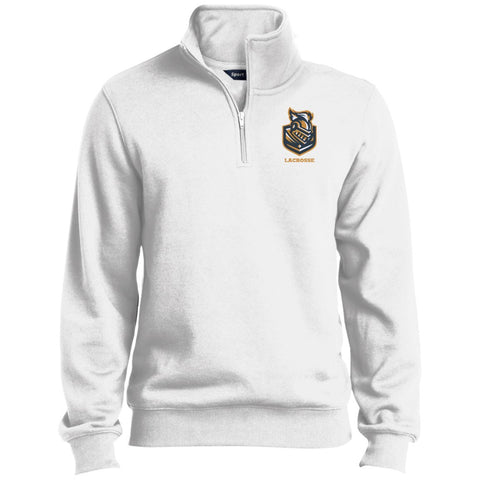 Quarter-Zip Embroidered Sweatshirt - Sweatshirts - White - Medium -