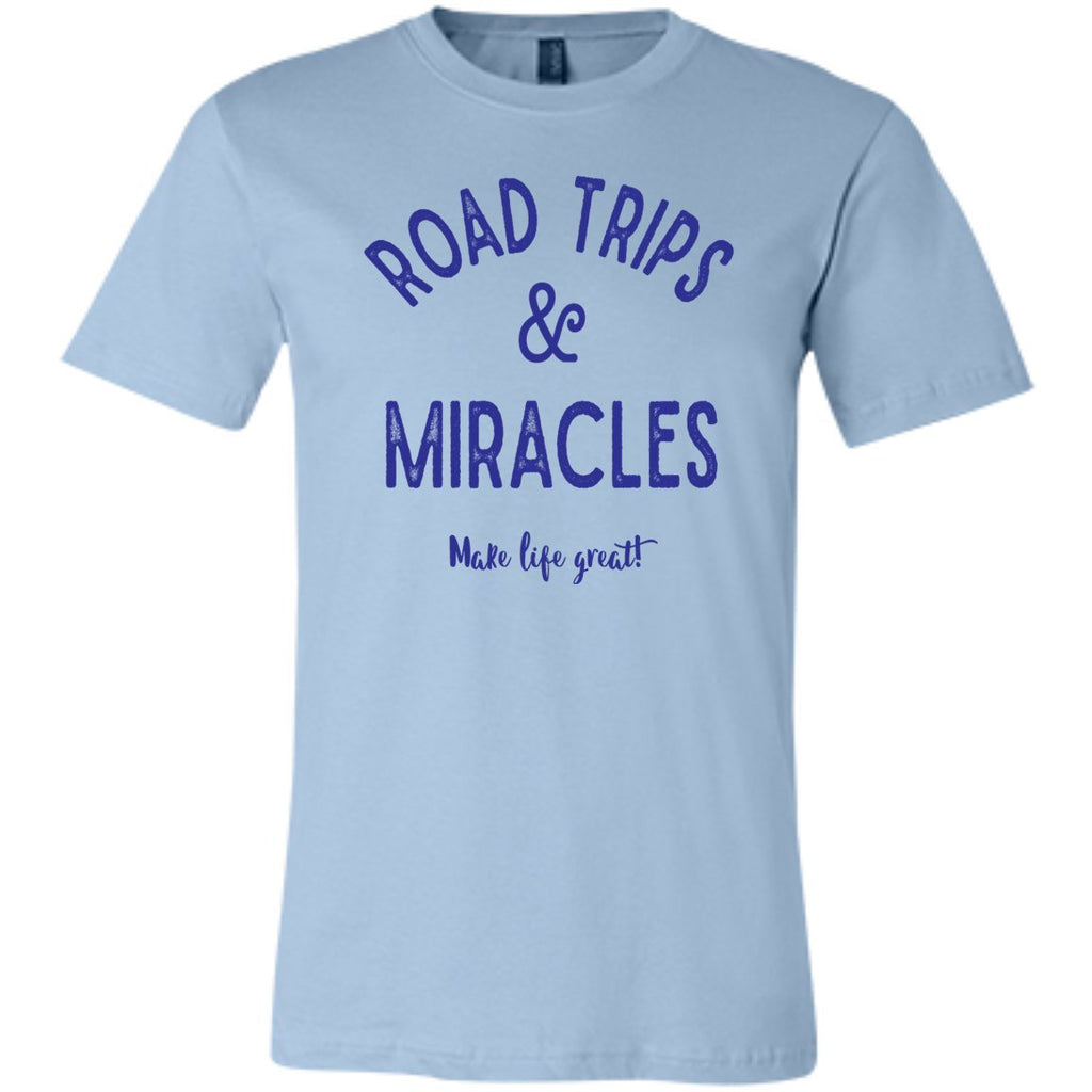 Road Trips & Miracles Make Life Great - T-Shirts - Light Blue - X-Small -