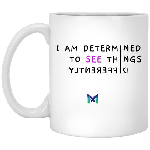 """See Things Differently"" - Coffee Cup-Apparel-White-Small (11oz)-The Miracles Store"