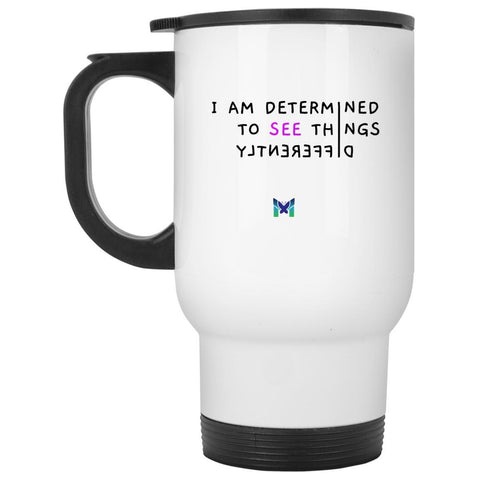 """See Things Differently"" - Travel Mug-Drinkware-Default-The Miracles Store"