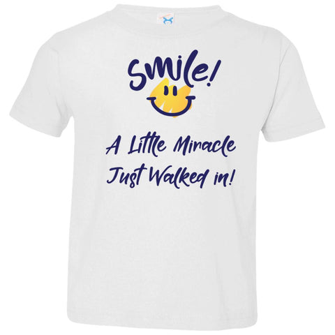 SMILE! A Little Miracle Just Walked In Kids Tops-T-Shirts-Butter-2T-The Miracles Store
