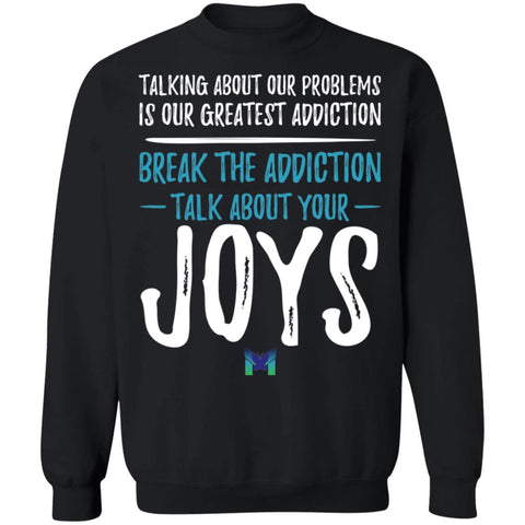 """Talk About Your Joys"" Unisex Crewneck Sweatshirt-Sweatshirts-The Miracles Store"