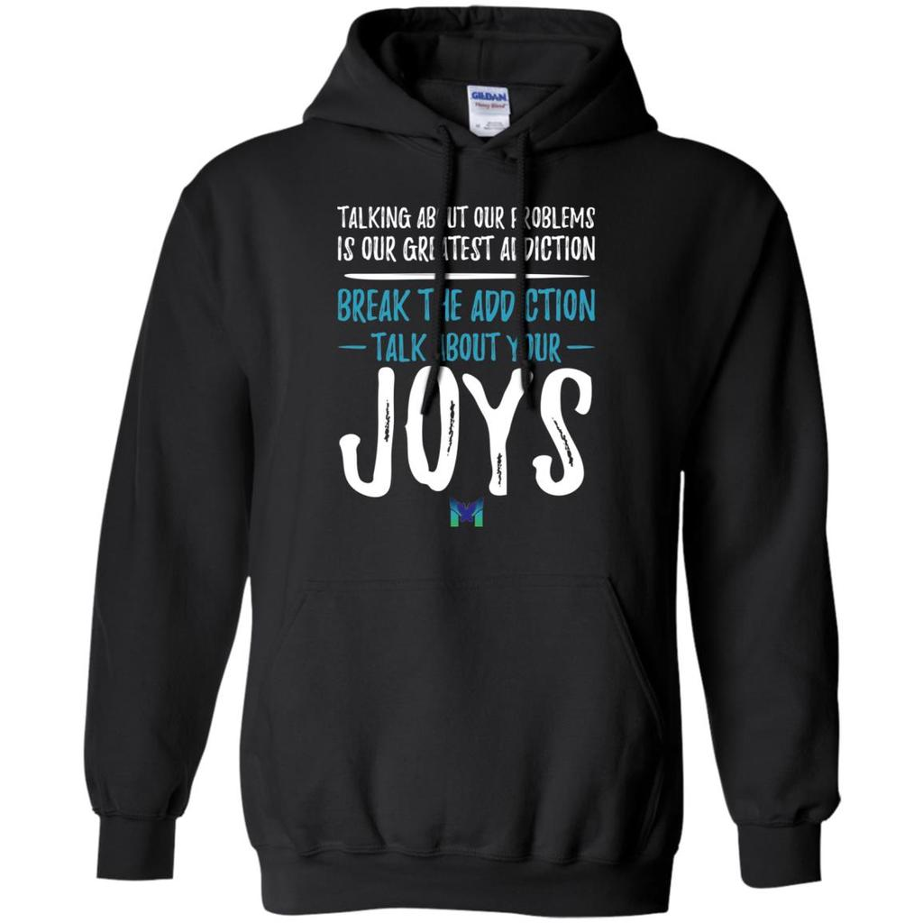 """Talk About Your Joys"" - Unisex Hoodie-Apparel-Black-S-The Miracles Store"