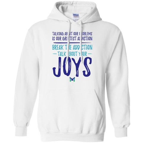 """Talk About Your Joys"" - Unisex Hoodie-Apparel-White-S-The Miracles Store"