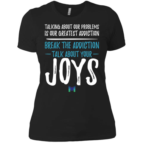"""Talk About Your Joys"" - Women's Shirts-Apparel-Boyfriend Tee-Black-X-Small-The Miracles Store"