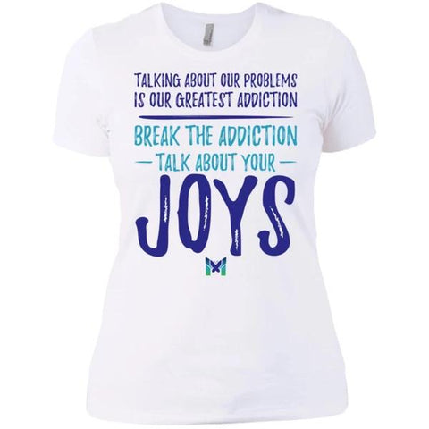 """Talk About Your Joys"" - Women's Shirts-Apparel-Boyfriend Tee-White-X-Small-The Miracles Store"