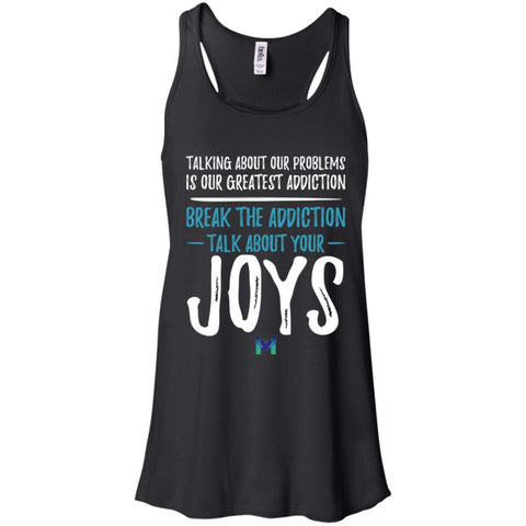 """Talk About Your Joys"" - Women's Shirts-Apparel-Flowy Racerback Tank-Black-X-Small-The Miracles Store"