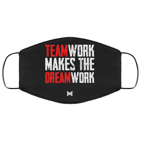 """Teamwork Makes The Dream Work"" Face Mask For Men-Apparel-The Miracles Store"