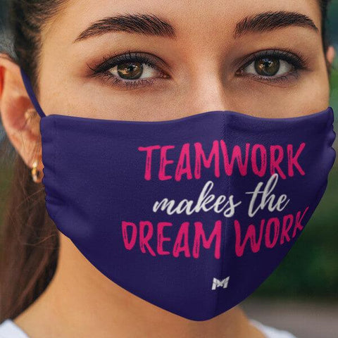 """Teamwork Makes The Dream Work"" Face Mask For Women-Apparel-The Miracles Store"