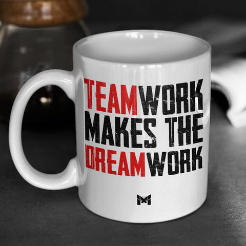 """Teamwork Makes The Dream Work"" Mug For Men"