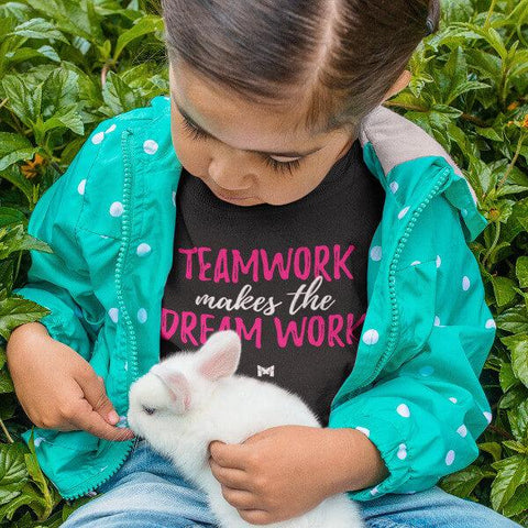 """Teamwork Makes The Dream Work"" Toddler Girl's Hoodie-Sweatshirts-The Miracles Store"
