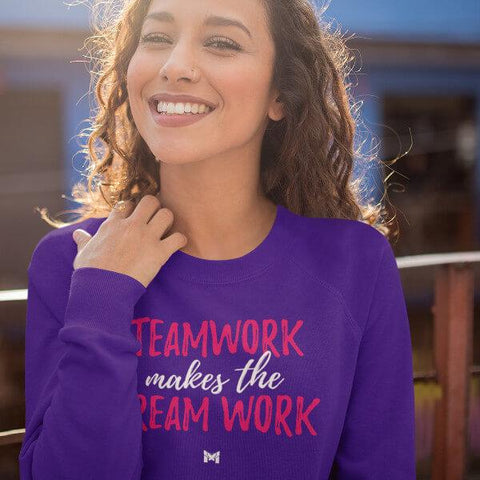 """Teamwork Makes the Dream Work"" Unisex Crewneck Sweatshirt-Sweatshirts-The Miracles Store"