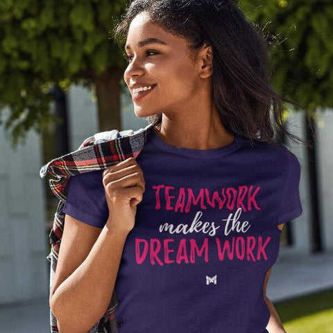 """Teamwork Makes The Dream Work"" Unisex T-Shirt (Style 1)-T-Shirts-The Miracles Store"