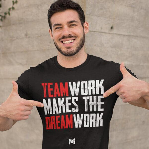 """Teamwork Makes The Dream Work"" Unisex T-Shirt (Style 2)-T-Shirts-The Miracles Store"