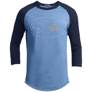 The Miracle Zone Mens Tops - Apparel - Baseball Style Tee - Carolina Blue/Navy - X-Small
