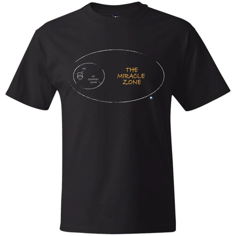 The Miracle Zone Mens Tops - Apparel - Hanes Beefy Tee - Black - Small