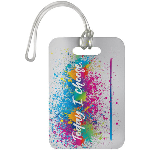 """Today I Choose _______"" Luggage Bag Tag - Bags - White - One Size -"